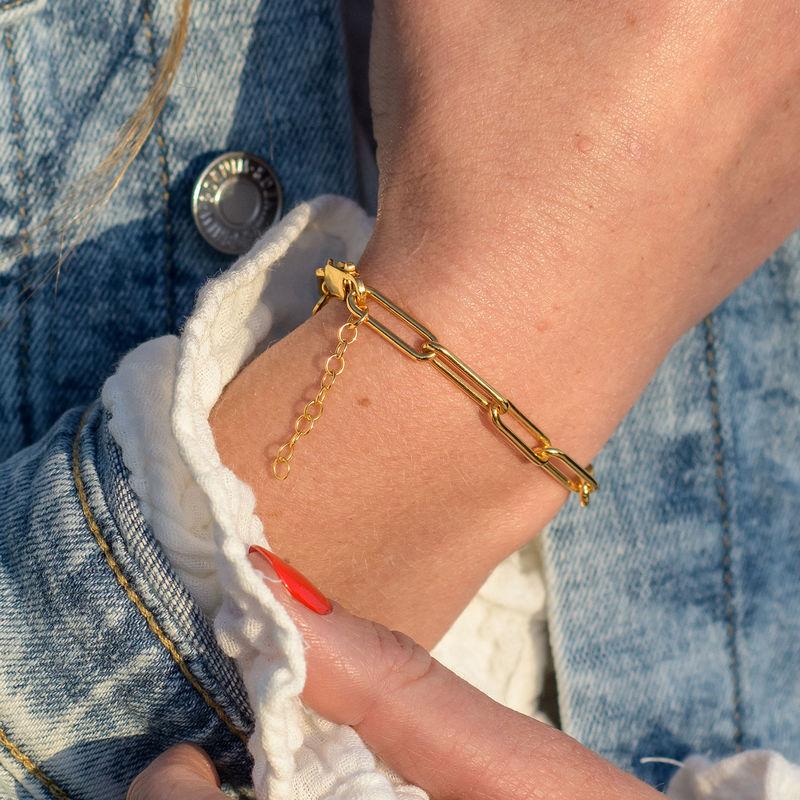 Link armbånd i 18kt. guld vermeil - 2