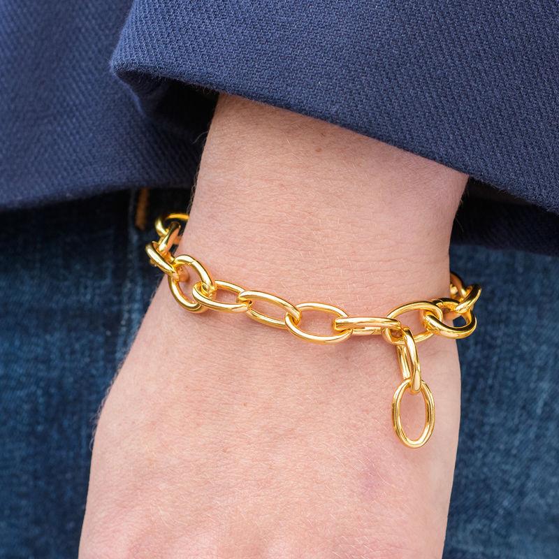 Link armbånd med runde links i 18kt. guld vermeil - 2