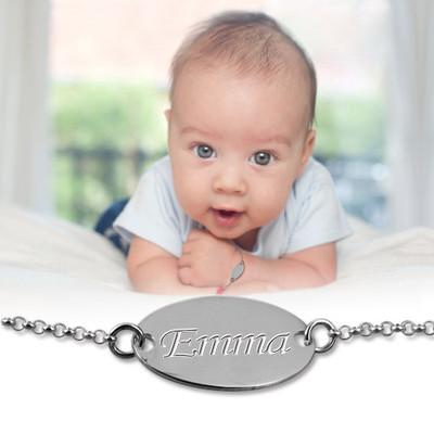 Baby armbånd med navn i sterlingsølv - 2