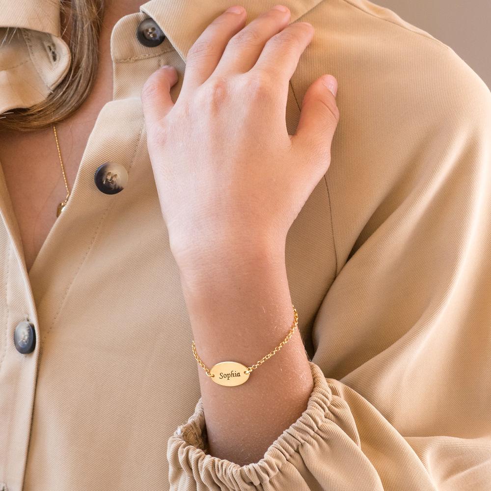 Baby armbånd med navn i forgyldt sterlingsølv - 2