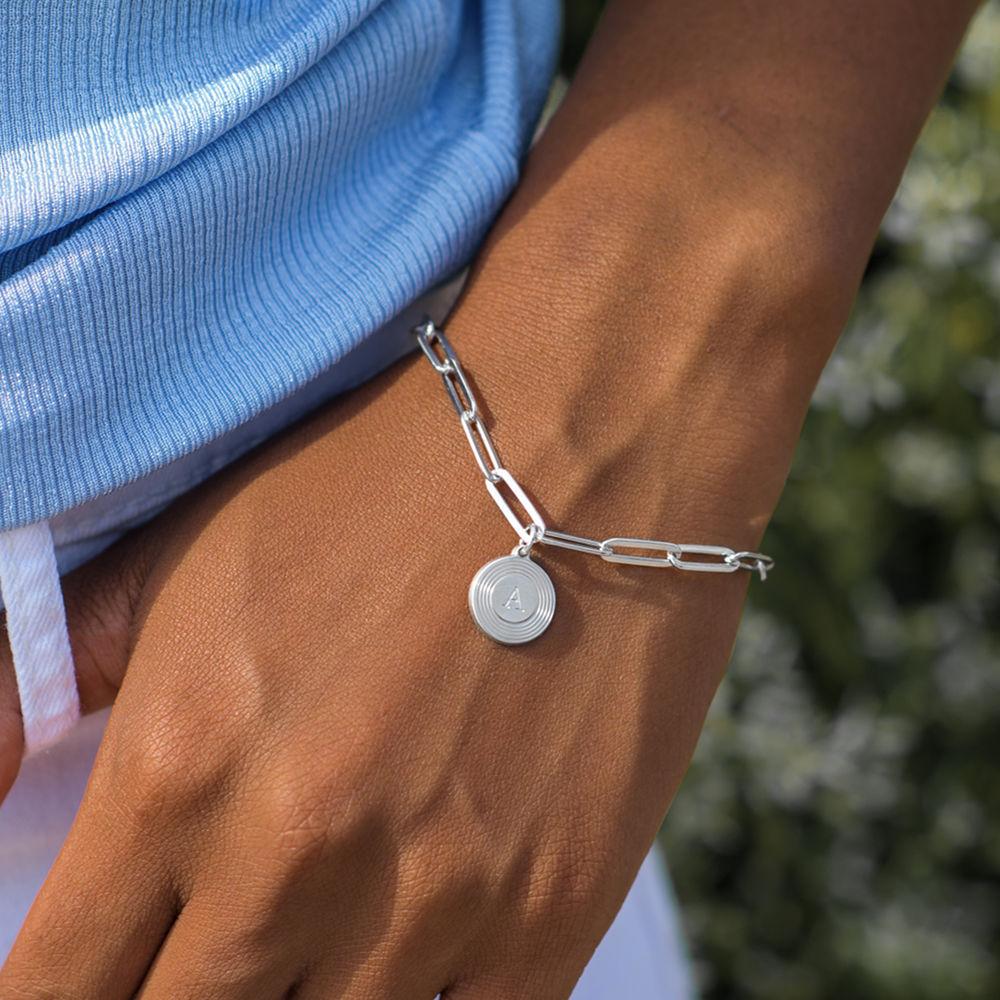 Odeion kæde armbånd med bogstav i sterlingsølv - 3