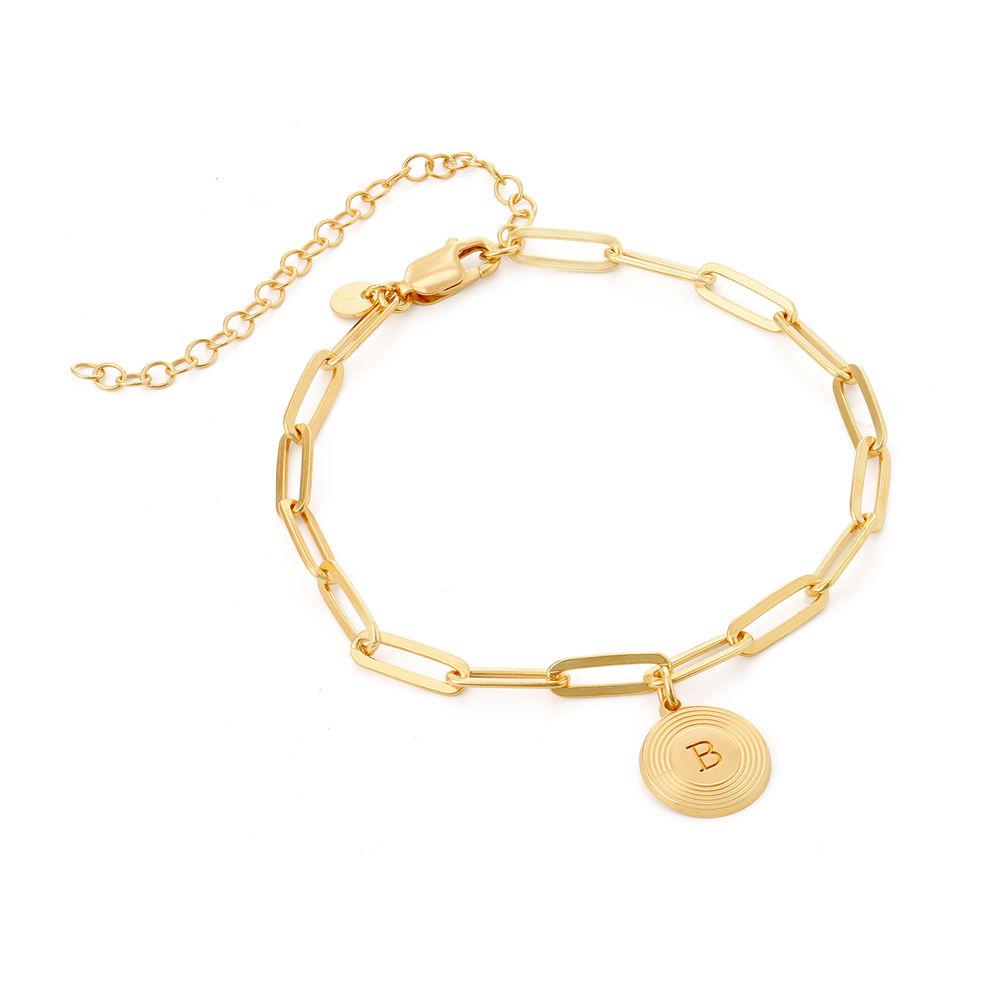 Odeion kæde armbånd med bogstav i guld vermeil