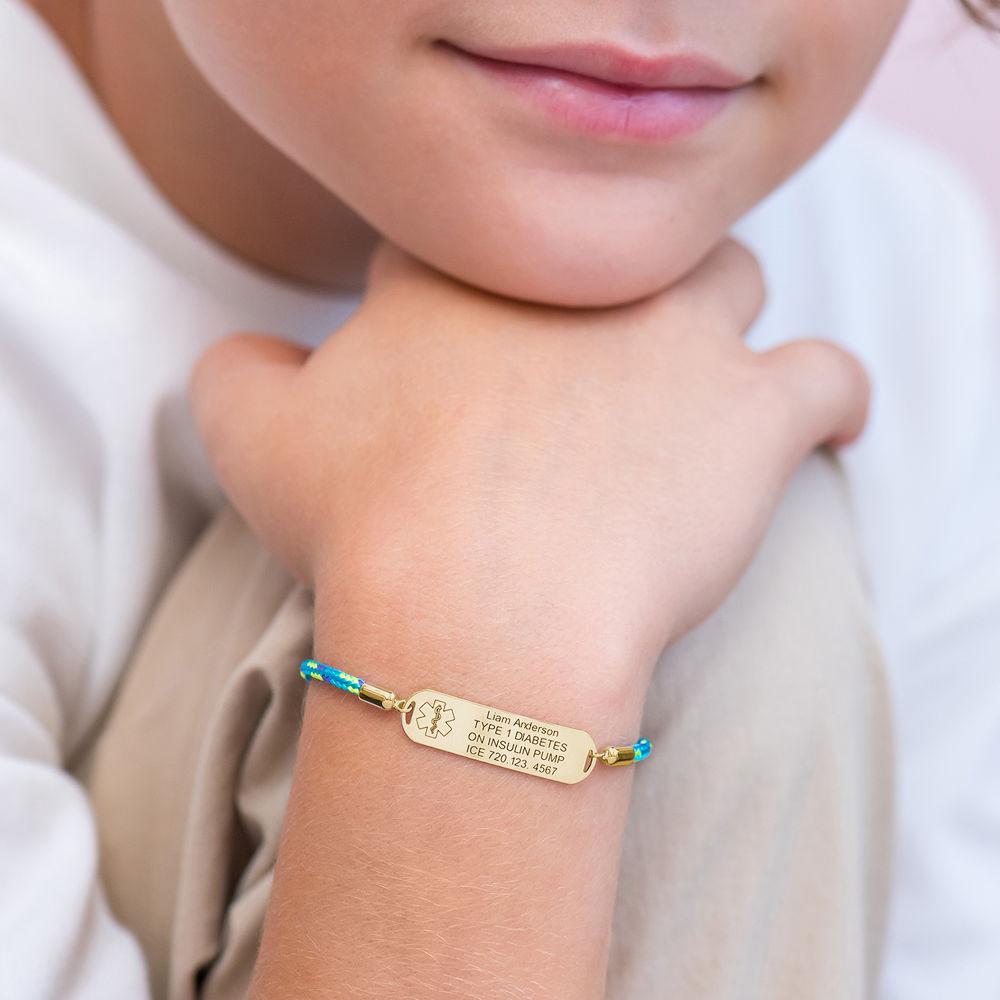Medicinsk armbånd til børn i 18kt. forgyldt - 4