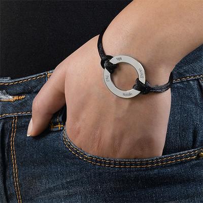 Cirkel armbånd med indgravering i sølv - 2