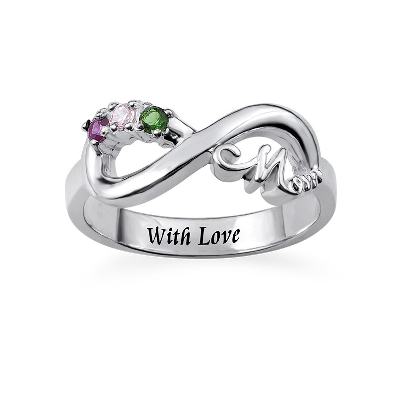 Infinity-Ring til Mødre med Indvendig Indgravering - 1