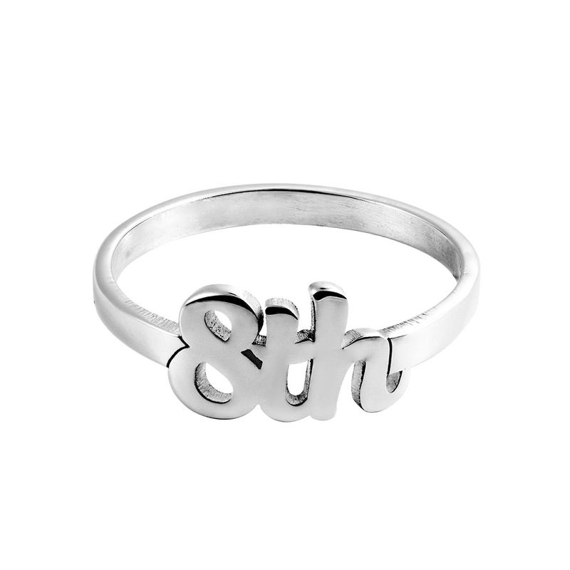 Personlig ring med nummer i sterling sølv - 1