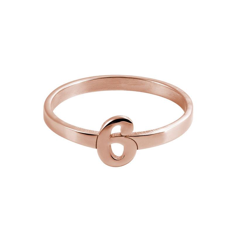 Personlig ring med nummer i 18 karat rosaforgyldt - 1