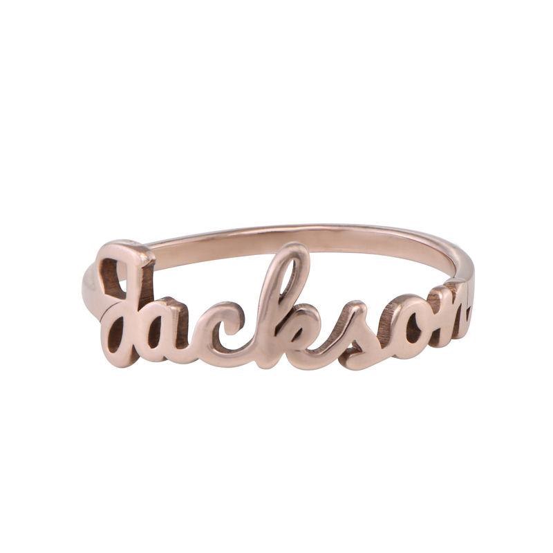 Navnering med håndskrift i rosaforgyldt sølv - 1