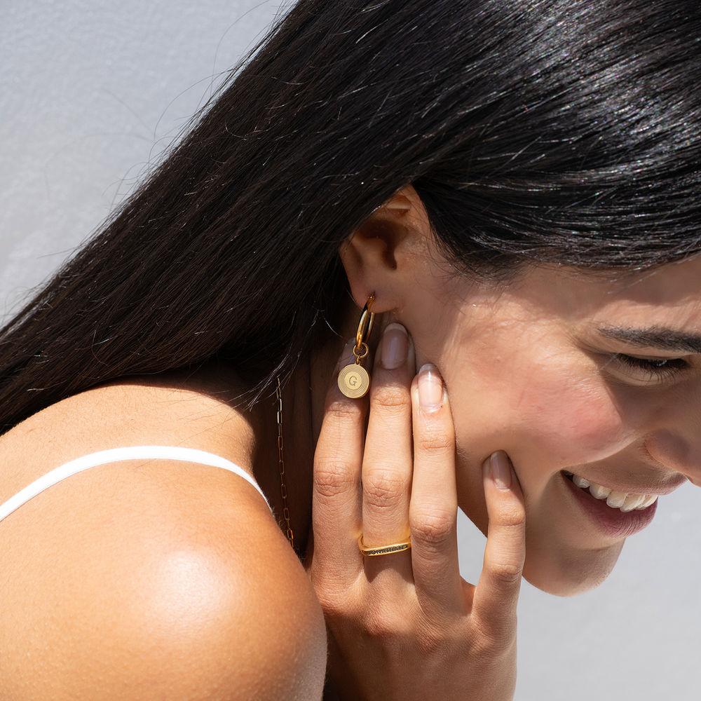 Odeion bogstav ørering i guld vermeil - 1