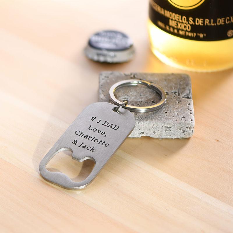 Nøglering med personlig øloplukker - 2