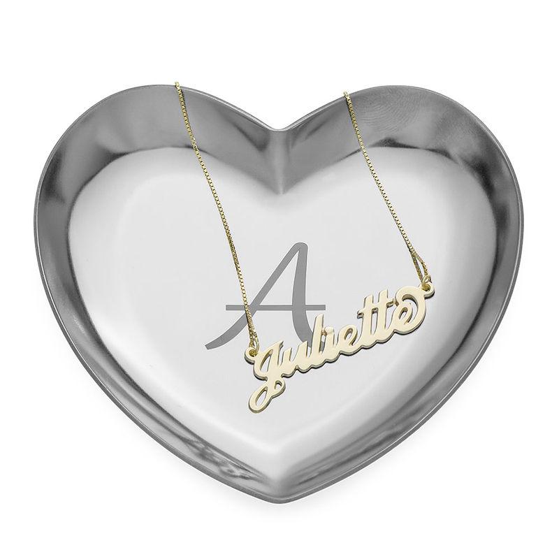 Personlig hjerteformet smykkebakke - sølvfarvet - 2