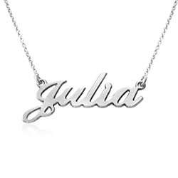 Lille navnehalskæde i sølv produkt billede