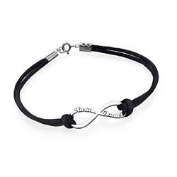 Infinity armbånd med navn produkt billede