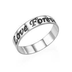 Promise ring - ring graveret i sterlingsølv produkt billede