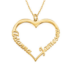 Hjerte halskæde i 10 karat guld product photo