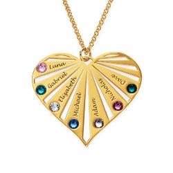 Familie halskæde med månedssten i guld vermeil product photo