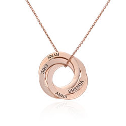 4 russisk ring-halskæde i rosaforgyldt sølv product photo