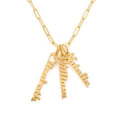 Link halskæde med navn 18kt. forgyldt produkt billede