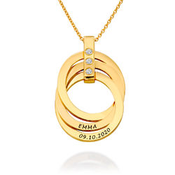 Russisk ringhalskæde med fødselssten i guld Vermeil produkt billede