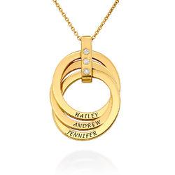 Russisk ringhalskæde i guld Vermeil med diamanter produkt billede