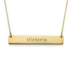 Personligt stavsmykke i guld produkt billede