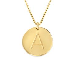 Halskæde med bogstav i 10 karat guld produkt billede