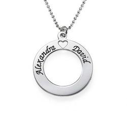 Kærlighedscirkelsmykke i Sølv produkt billede