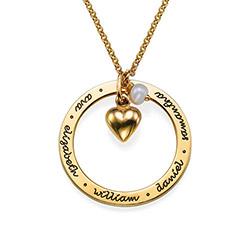 Mor smykke med hjertevedhæng i forgyldt sølv product photo