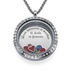 Love My Children-Medaljon med Løse Lykkecharms produkt billede