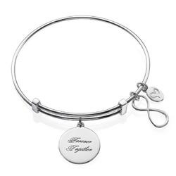 Infinity bangle armbånd med vedhæng produkt billede