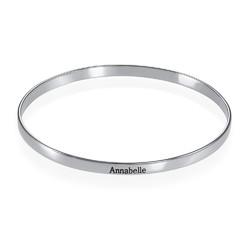 Indgraveret sølv armring product photo