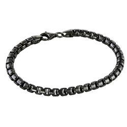 Personligt armbånd til mænd i sort sølv produkt billede