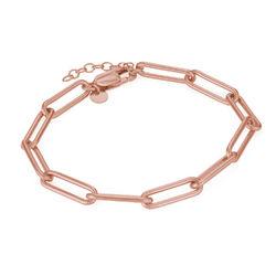 Link armbånd i 18kt. rosaforgyldt sølv produkt billede