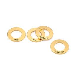 Cirkelformede charms til Bangle armbånd i forgyldt sølv produkt billede