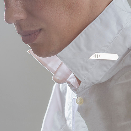 Collar Stays i Sølv med Personligt Præg - 1