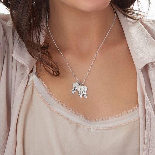Halskæde med stemplet børnevedhæng i Sterling sølv - 3