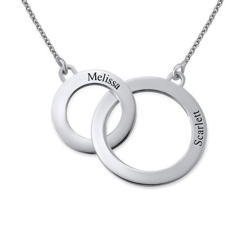 Indgraveret cirkel halskæde i sølv