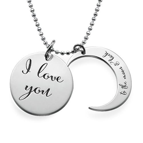 Jeg Elsker Dig til Månen og Tilbage Igen-Halskæde - 1