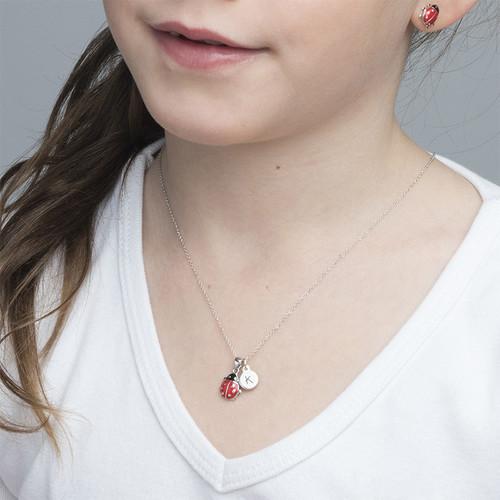 Mariehønehalskæde for Børn med Pladevedhæng - 2