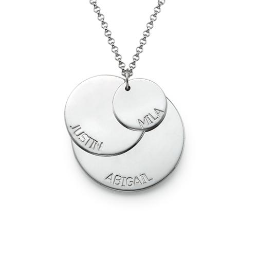 Morshalskæde i sølv med børnenavn - 1
