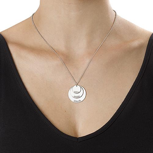 Morshalskæde i sølv med børnenavn - 2