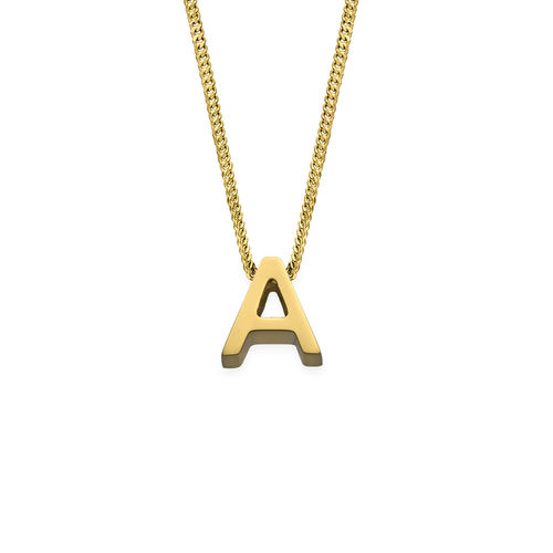 Personlig bogstav halskæde med guldbelægning - 2