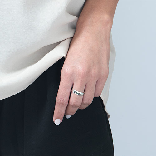 Promise ring - ring graveret i sterlingsølv - 1