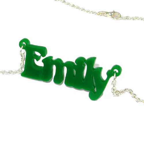 That 70's show Style Colour Name Necklace - 1