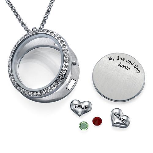 True Love-Medaljon med Løse Lykkecharms - 1