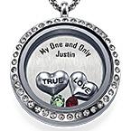 True Love-Medaljon med Løse Lykkecharms