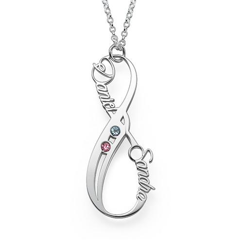 Vertikal Infinity-Halskæde med Månedsten