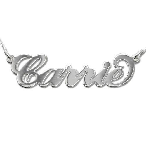 Carrie-Style navnehalskæde i 14kt. hvidguld