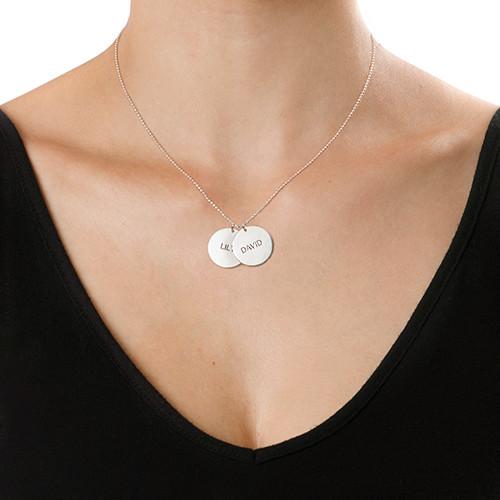 Et smykke til mor - personlig plade-halskæde i sølv - 1