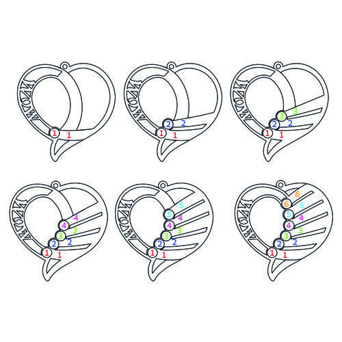 Indgraveret mor halskæde med månedssten - Forgyldt - 5